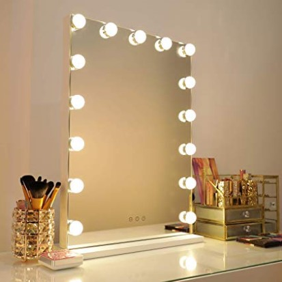 Vanity Lights Diy Hollywood Lighted Makeup Vanity Mirror Dimmable Lights Stick On Led Mirror Light Kit For Vanity Set Plug In Makeup Light For Bathroom Wall Mirror 14 Bulb On Express Shop