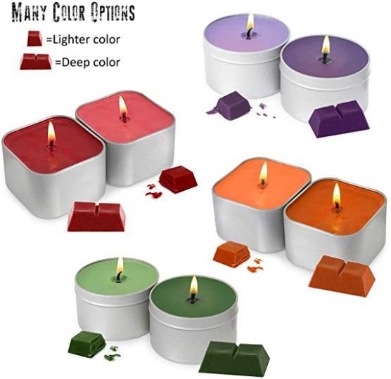 Yodeace Candle Making Kit 1pcs Melting Pot Spoon 100pcs Candle Wicks 100pcs Candle Wicks Sticker and 10pcs Candle Wick Centering Device Candle Making Supplies with 1pc Candle Make Pouring Pot